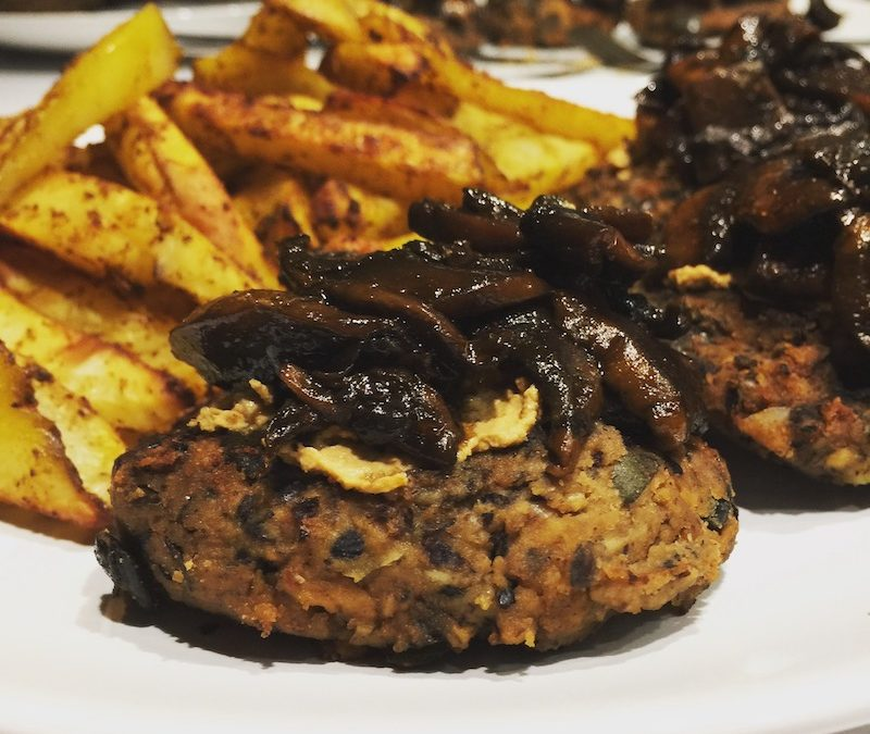 Tempeh Veggie Burger with Pumpkin seeds and Almonds (vegan, gf)
