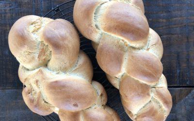 Zopf Braided Bread (typical Swiss bread, vegan version)