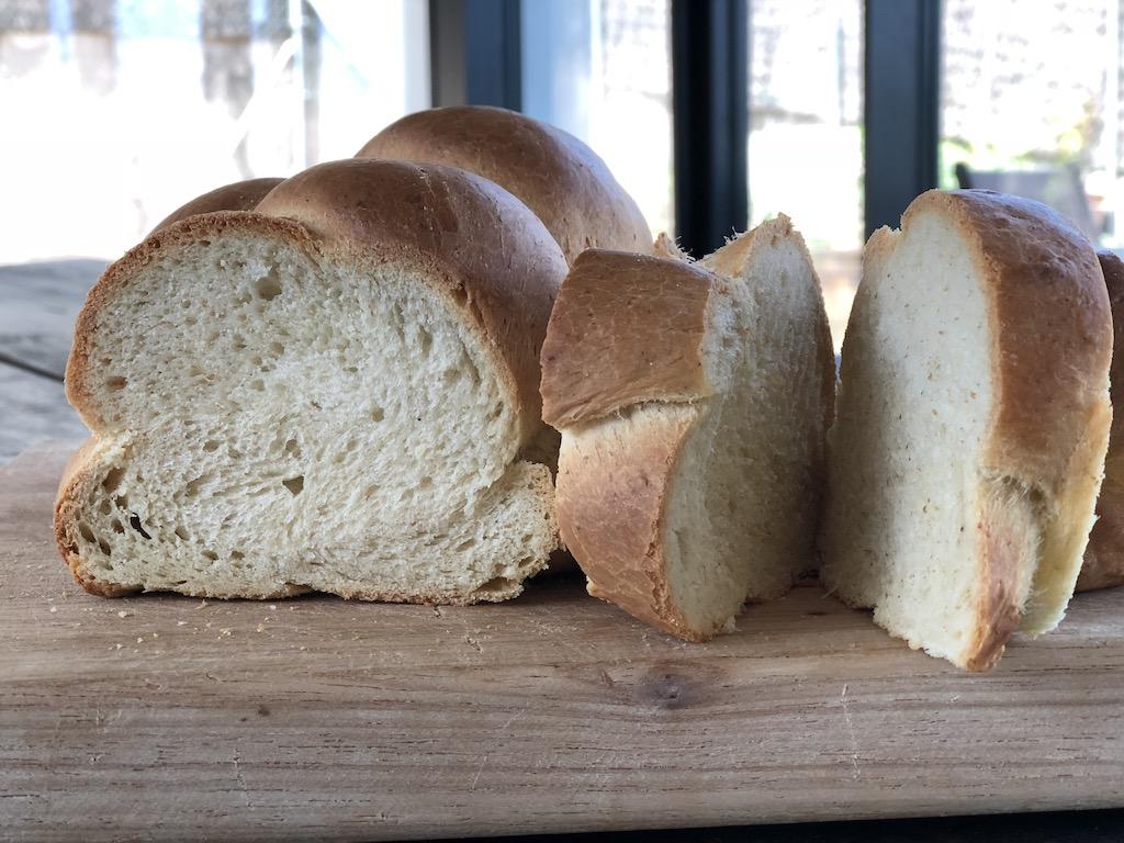 Rodajas de pan de trenza, Zopf, vegano