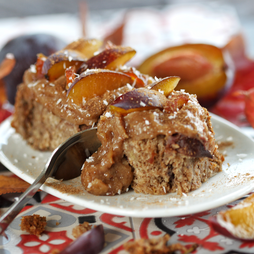 Juicy Plum Cake with Cinnamon (vegan, gf)
