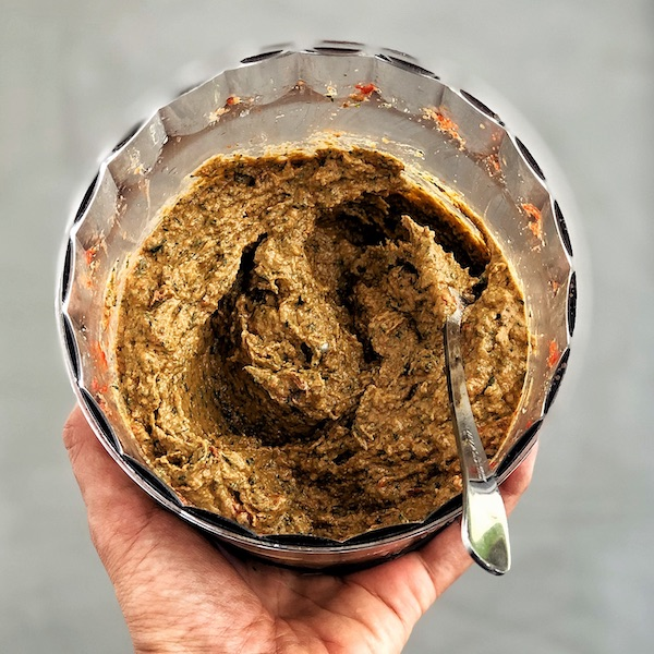Vegan Sun Dried Tomato Pesto with Walnuts